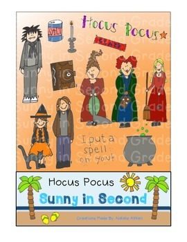 Hocus Pocus Clip Art for Personal and Commercial Use