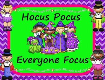 Hocus Pocus Everyone Focus Poster