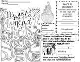 Hocus Pocus Irony and Characterization Coloring Page