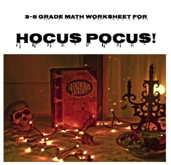 Hocus Pocus Math Worksheet