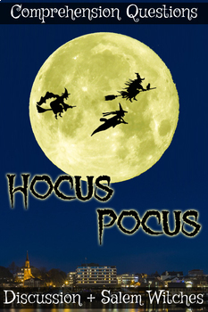 Hocus Pocus Halloween Movie Guide + Extras (Color + B/W) - Answer Keys Included