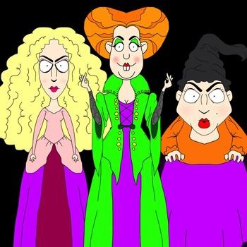 Hocus Pocus Sanderson Sisters Clip Art Freebie