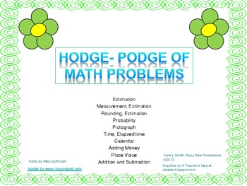 Hodge- Podge of Math Problems