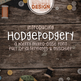 Hodgepodgery Font for Commercial Use