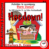 BOOK ACTIVITIES & EXTENSIONS: Barn Dance Literacy & Math Centers, Multi-subject
