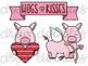 Hogs and Kisses Digital Clip Art Set