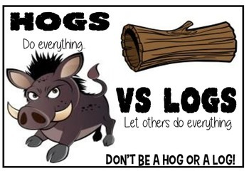 Hogs v Logs - cooperative work poster