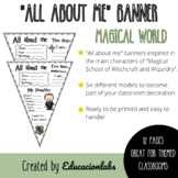 """Hogwarts """"All about me"""" Pennants in English"""