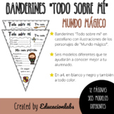 """Hogwarts """"All about me"""" Pennants in Spanish"""