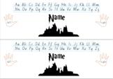 Hogwarts Harry Potter Name Desk Plates