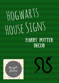 Harry Potter Hogwarts House Signs