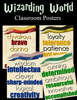 Hogwarts House Signs (Harry Potter, Posters, Class Decor, Classroom Decorations)