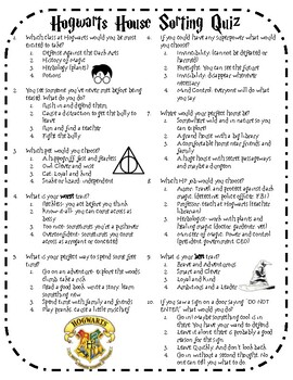 It's just a graphic of Simplicity Harry Potter Quiz Printable