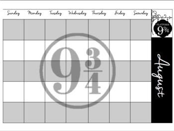 Hogwarts Houses Pensieve Calendar