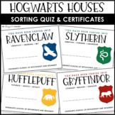 Hogwarts Houses Quiz | Hogwarts Houses Certificates | Hogwarts Sorting Quiz