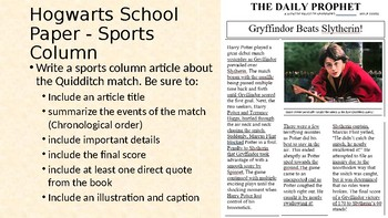 Hogwarts School Newspaper