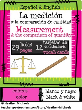 Hojas de la Medición/Measurement worksheets in English & S