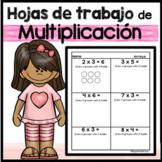 Hojas de trabajo de multiplicacion