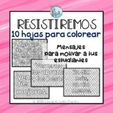 Hojas para colorear Motivacion Distance Learning Spanish
