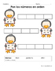 Hojas y centros de matematicas- Diciembre para Kindergarten (Spanish)
