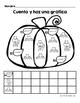 Hojas y centros de matematicas- Octubre (otono) para Kindergarten (Spanish)