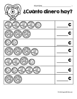 Hojas y centros de matematicas- febrero para Kindergarten (Spanish Math)