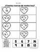 Hojas y centros de matematicas- febrero para Kindergarten