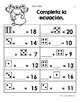 Hojas y centros de matemáticas para febrero -Primer Grado (Spanish Math)
