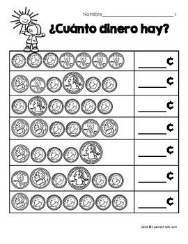 Hojas y centros de matemáticas para marzo -Primer Grado (Spanish Math)