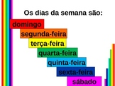 Hoje e Amanha (Days of the week in Portuguese) power point
