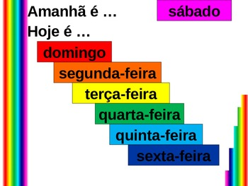 Hoje e Amanha (Days of the Week in Portuguese) PowerPoint