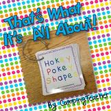Hokey Pokey Shape Cards - Plane & Solid Shapes {Freebie!}