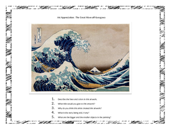 Hokusai- His Life and Art, Stamp Print Art Project and Art Appreciation