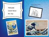 Hokusai- His Life and Art, Stamp Print Art Project and Art