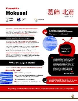Hokusai, print and ocean