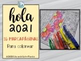 Hola 2021 bookmarks Spanish bookmarks hello 2021