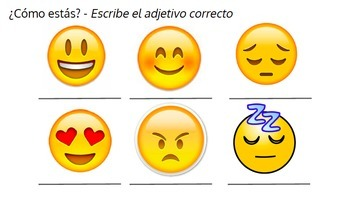 Hola, ¿Cómo estás? -- Emotions in Spanish - Elementary/Middle