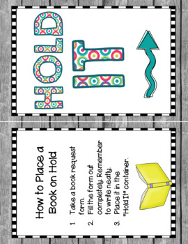 Hold It! A System for Reserving Library Books (Polka Dots Set)
