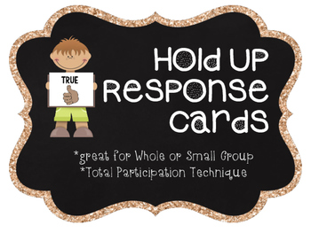 Hold Up response cards