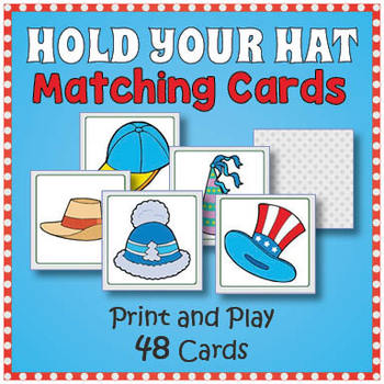 photograph regarding Printable Memory Games for Adults identified as Hat Matching Memory Activity - Exciting Hat Working day Match