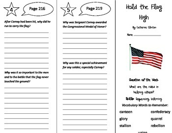 Hold the Flag High Trifold - Reading Street 5th Grade Unit