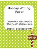 Holdiay Writing Paper
