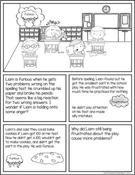 Anger Activities: Anger Management Flip Book, Problem Solving Scenes, MiniLesson