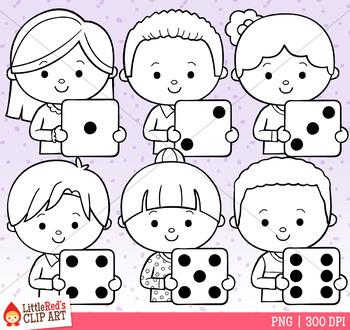 Holding Dice Kids Clip Art