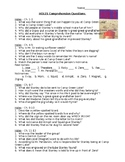 Hole Comprehension Question and Answer Key