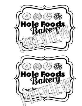 Hole Foods Bakery: A Transition Back to the Classroom