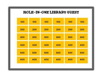 Hole-In-One Library Science Quest 1