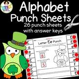 Hole Punch Activities ● Alphabet Letters ● Letter Recognition