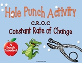 Hole Punch Activity  Constant Rate of Change