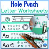 Hole Punch Alphabet Letter Worksheets